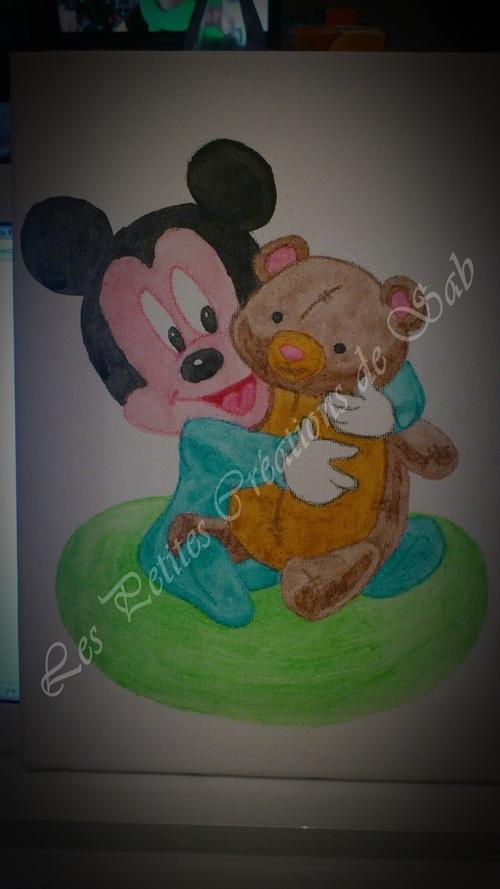 Toiles Mickey & Donald bébés