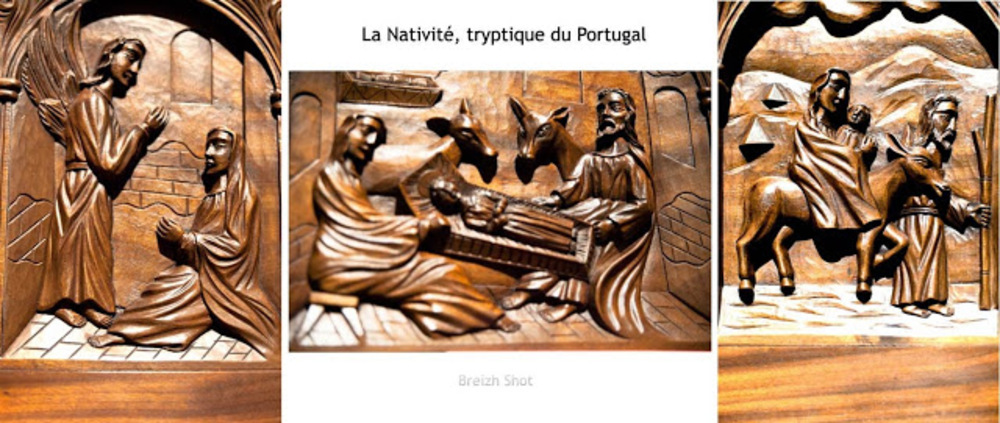 tryptique, sur la nativité - Portugal