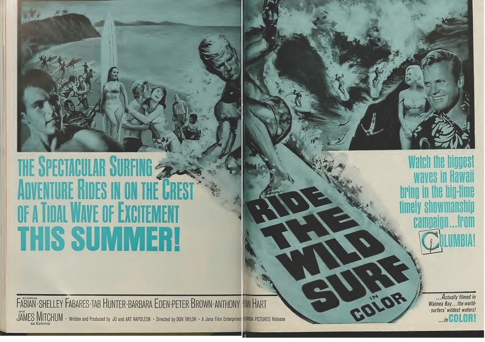 RIDE THE WILD SURF BOX OFFICE USA 1964