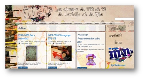 Blogs maternelle favoris -PS MS GS
