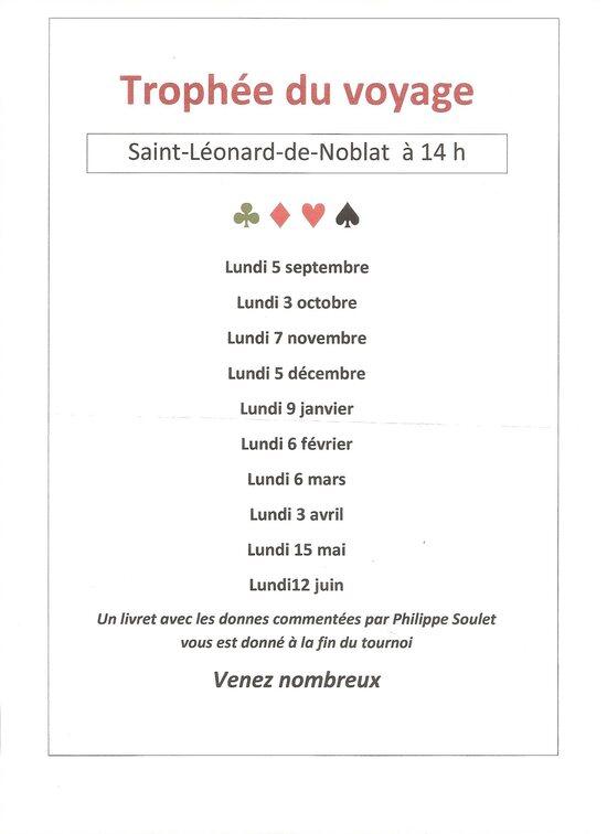 Trophée du Voyage à St Léo