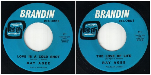 RAY AGEE - LOVE IS A COLD SHOT