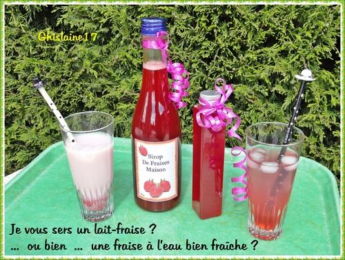 Sirop de fraises maison