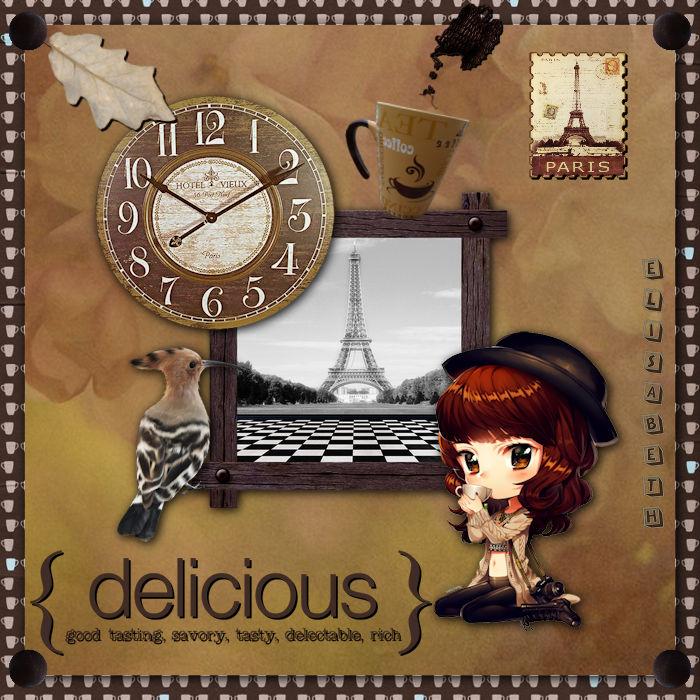 """Mon défi kit scrap """"Arome de Café"""""""