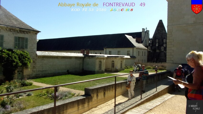ABBAYE &  SITE  RELIGIEUX:  1/4 - 1/10 ABBAYE de  FONTREVAUD  49        D   01/03/2019