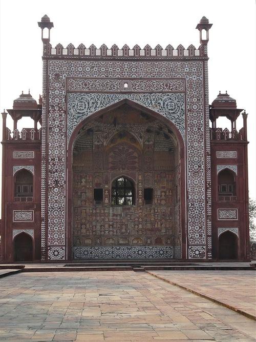 le tombeau d'Akbar à Sikandra