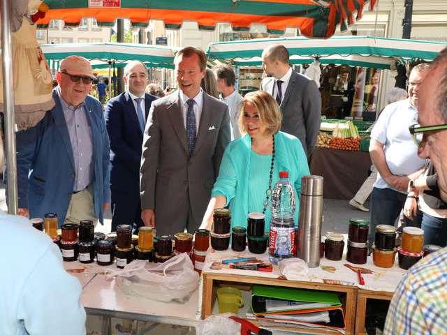 Visite du Marché bihebdomadaire de la Ville de Luxembourg