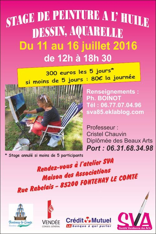 Stage adultes été 2016