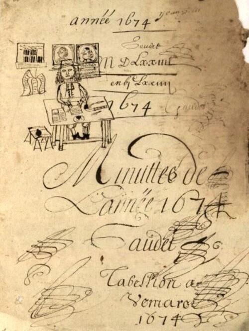 Les minutes de l'année 1674 du notaire de Vémars