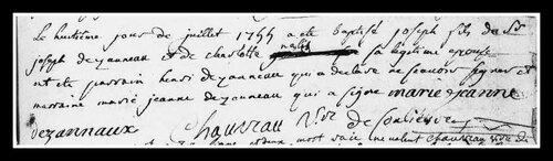 Les sépulutures des abbés Dézanneau et Jotterau....