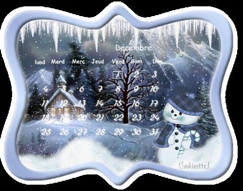 Pour Sissi Douceur : calendrier de Décembre 2017