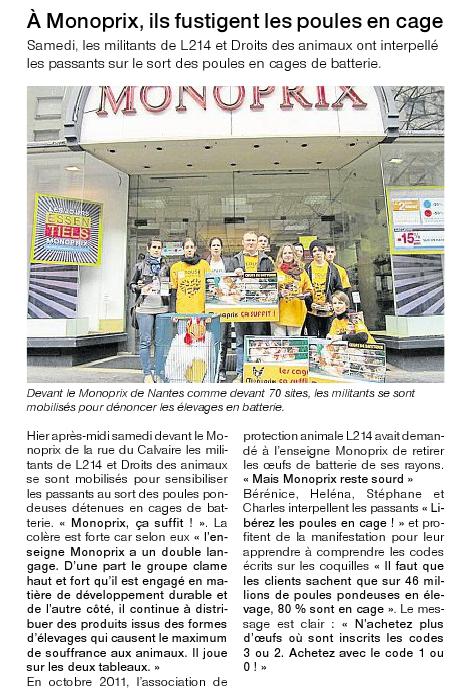 Ouest France - Le 05/03/2012