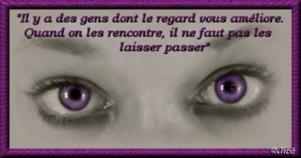 IL Y A DES REGARDS...