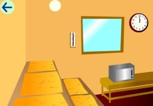 Escape from sauna room