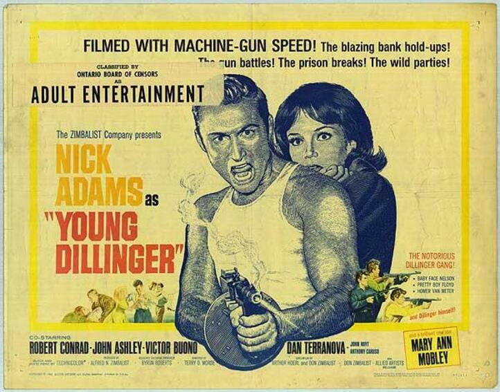 YOUNG DILLINGER BOX OFFICE USA 1965