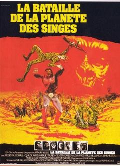 LA BATAILLE DE LA PLANETE DES SINGES AFFICHE FRANCE 1973