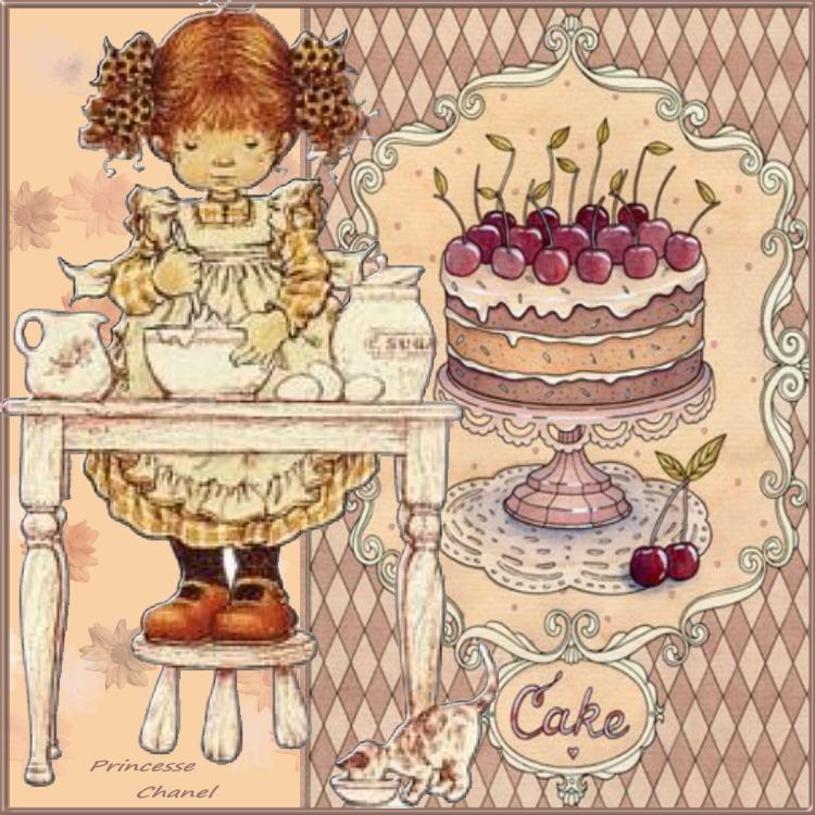 Printinette  fait du gâteau