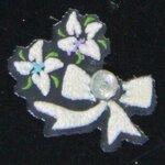 Stickers d'ongles fleurs et nœuds en été
