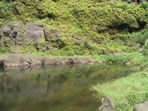 La cascade de 100 mètres de la Ravine du Butor et son bassin