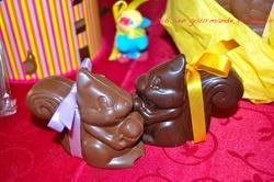 CHOCOLATS APPORTES PAR LES CLOCHES
