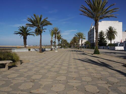 L'esplanade du front de mer