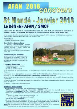 Défi AFAN-SMCF pour St Mandé 2018