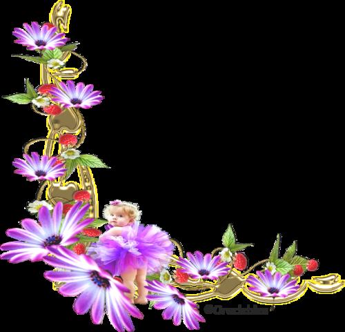 Coin fleur mauve