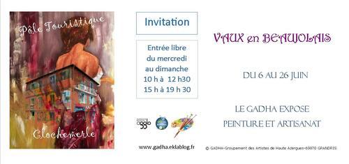 Dernière semaine pour l'exposition du GADHA à Clochemerle...