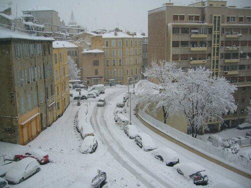 Neige sur Marseille(Janvier 2009)