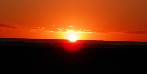 Soleil couchant , comme si l'ocèan était en feu