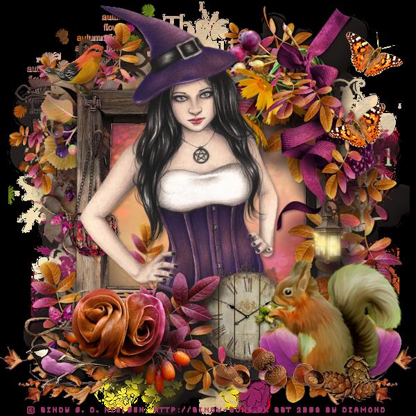 "Tutoriel ""Autumn Memories"" de chez Josie's PSP Lessen"
