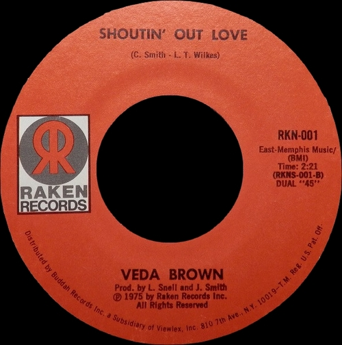 "Veda Brown : CD "" Short Stopping : The Complete Single 1972 - 1977 "" SB Records DP 85 [ FR ]"
