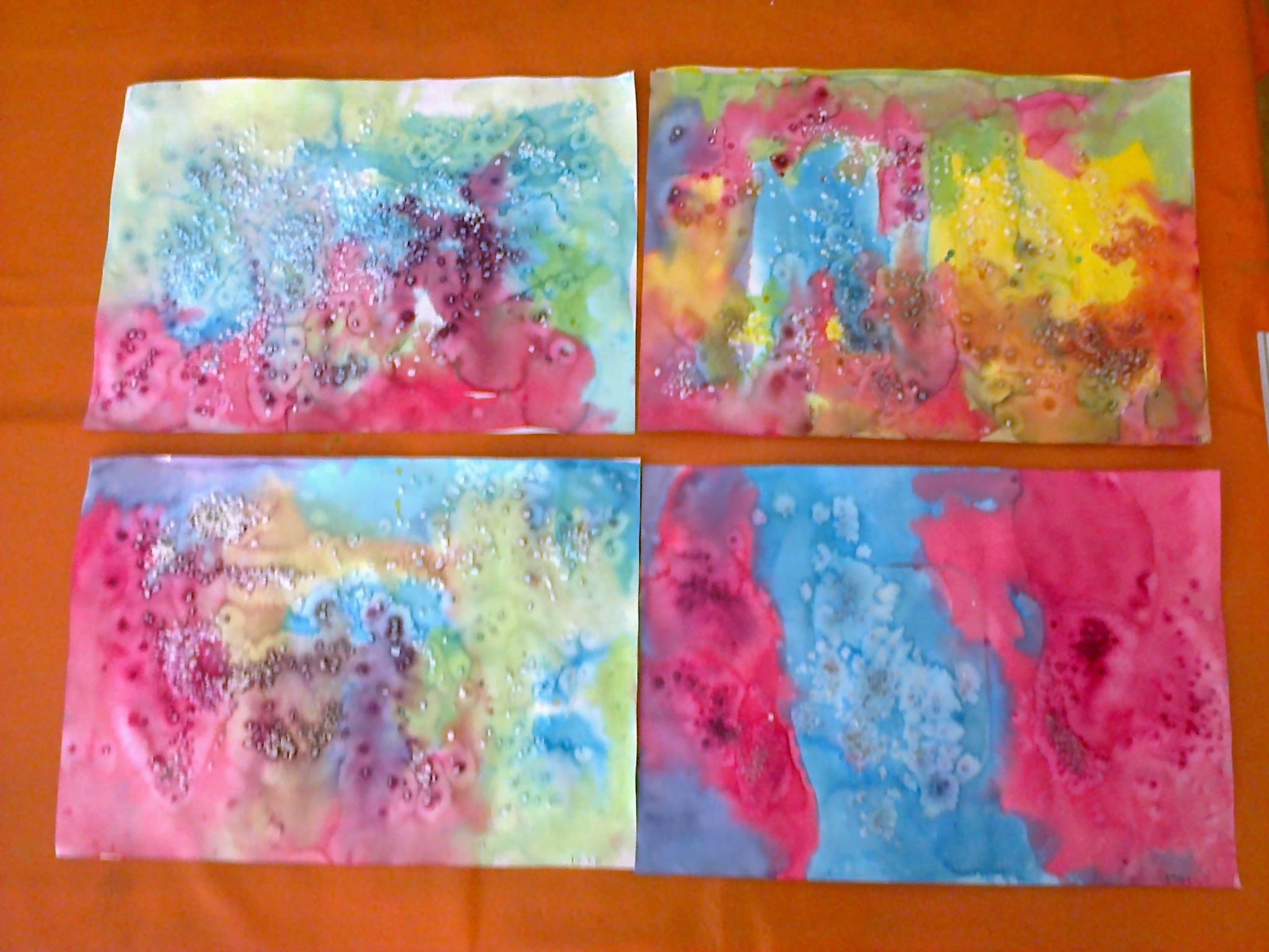 Peinture à Lencre Chez Les Petits Et Les Moyens Classe Maternelle