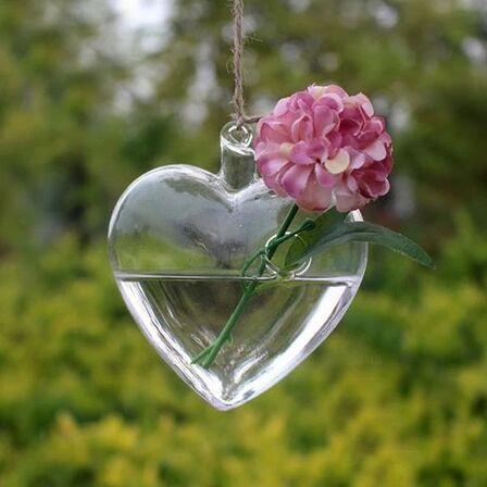 Heart Shaped Hanging Glass Flower Vase – Free Spirit Shop #BohemianStyle #BohoHomeDecor #Buddha #Yoga #Meditation #Spiritual #HomeDecor