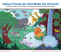 God Made the Animals Jigsaw Puzzle