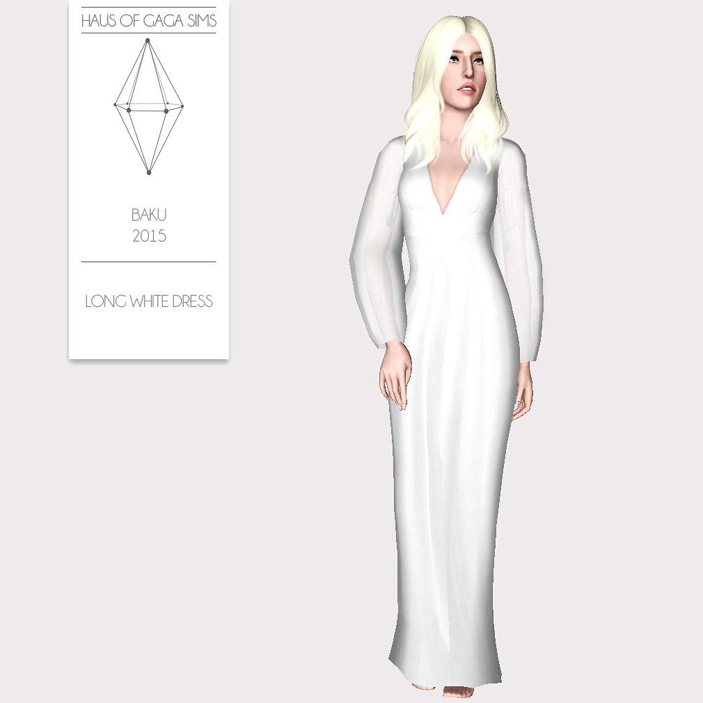BAKU 2015 LONG WHITE DRESS