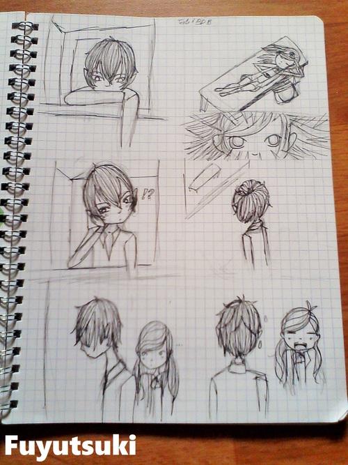 mes dessins n°46 (festival manga + teste BD Matsuko)