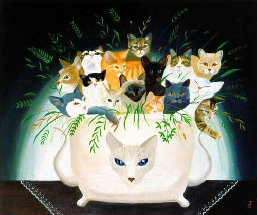 Tableau du samedi : Bouquet de chats