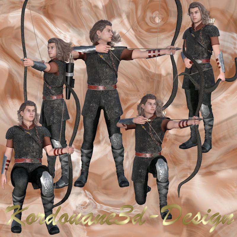 Guillaune l'archer (tubes homme - render)