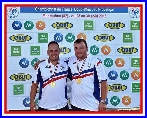 Champions de France J.P 2X2
