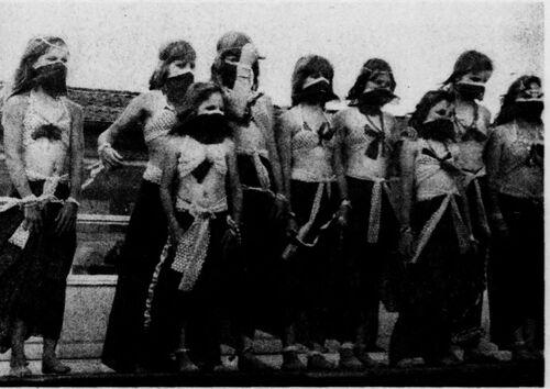 La fête de clôture du centre aéré Jules Ferry août 1977