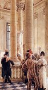 At The Louvre   2 - James Jacques Joseph Tissot - www.jamestissot.org