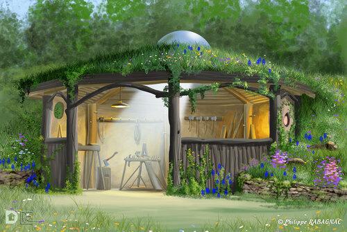 Projet cabanes - Le cercle-atelier