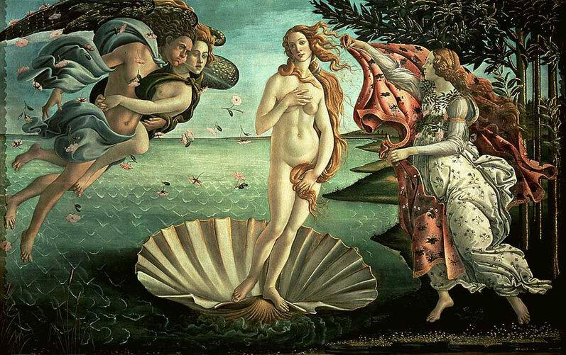 La Naissance de Vénus de Sandro Botticelli revisitée