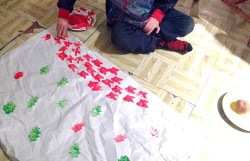 Faire son papier d'emballage de Noël soi-même