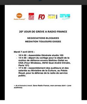 Radio France - Les élites en grève contre la Démocratie