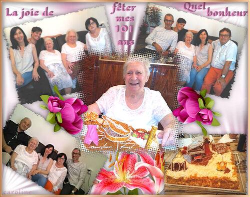 101 ans Joyeux anniversaire (juillet 2016)