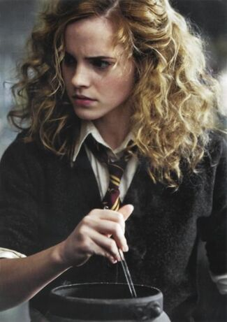 I feel like this is what her hair looked like through all of the books. It said…: