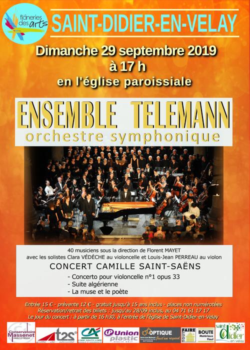 Ensemble Telemann en concert le 29 septembre à 17h00, à St-Didier-en-Velay, à l'église