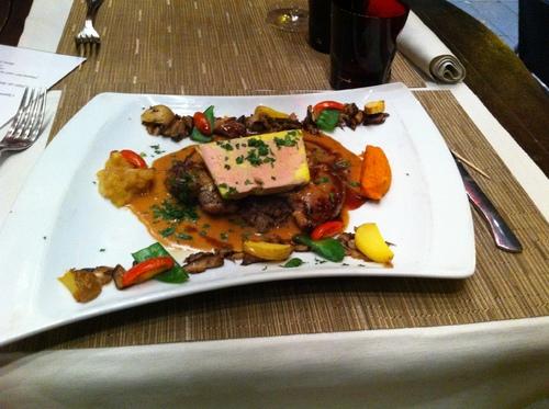 Foie gras sur perdreaux  désossé